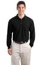 Port Authority Men's 5oz Long Sleeve Silk Touch Polo Shirt with Pocket  #K500LSP