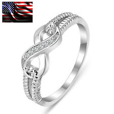 925 Sterling Silver Infinity Ring Endless Love Symbol S925 Stamped Rings