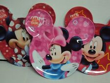 DISNEY'S MICKEY/MINNIE MOUSE EAR-SHAPED MELAMINE BABY/TODDLER PLATE NEW BPA FREE