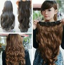 TI US One Piece Clip in Synthetic Hair Extensions Long Wavy Curly Hair 5 Clips