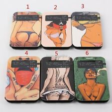 Sexy Hot Girl Lady Window View Leather Flip Case Cover Stand For Samsung Galaxy