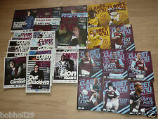 Burnley Home Programmes 2007/08 to 2011/12  Select from list