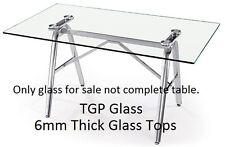 Replacement 6mm Clear Glass table tops and worktop protectors, stain proof tough