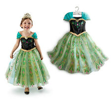 Frozen Prinzessin Anna Kleid Elsa Fancy Kostüm Queen Princess  Dress 2-10 Jahre