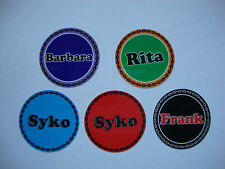 "12 BOWLS STICKERS 1"" ANY NAME LAWN BOWLS CROWN GREEN  FLAT GREEN INDOOR BOWLS"