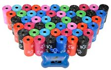 Dog Poop Bags for Pet Waste, Designer Bags on a Roll, (variety sizes & colors)