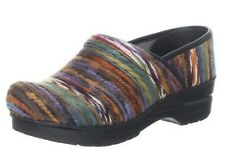 Women's DANSKO PROFESSIONAL Yarn Fabric Vegan STAPLED CLOG NIB