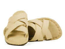 Ecolution Hemp Mojave Men's slider sandal flip flop brown black natural vegan