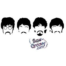Beatles Band Decal Vinyl Sticker, choose COLOR & SIZE Silhouette Heads Wall Car