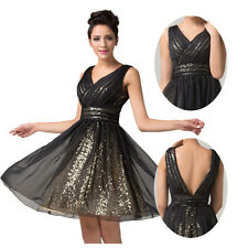 On Sale Evening Black Formal Party Ball Gown Prom Bridesmaid Short Dresses 2-16