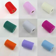 100 Yards High Quality Tulle Spool Roll Tutu For Wedding Decor 10 Colors
