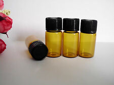 3ML Essential Oil Amber Glass Vials 3ml Size! Sample Size bottles