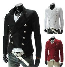 Hot Vintage Men's Military Cotton Double-breasted Casual Blazer Suit Jacket Coat