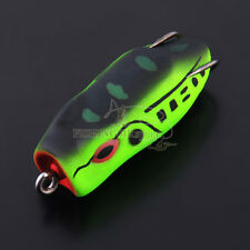 """Topwater Frog Chugger Soft Fishing Lures Bass Pike Hook 1.97"""" 0.35oz 6 Colors"""