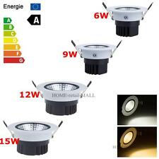 6W 9W 12W 15W Dimmable Warm Day White COB LED Fixture Ceiling Spot Downlight Kit
