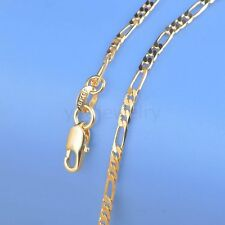 "1PC 18-26"" 18K Yellow Gold Filled Figaro Necklace Chain For Pendant 18K-GF C31"