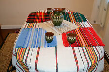 Bulgarian Folk Modern Design Large Table Cloth Cover Runner & Placemats Vintage