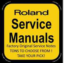 Original Factory Roland Service Notes (A-G) Service Manuals- Tons to Choose From