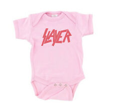 Slayer Baby T-Shirt Pink Logo Girls Shirt One Piece Romper Creeper Snap Tee