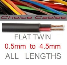 12v/24v AUTOMOTIVE 2 CORE FLAT TWIN THINWALL CABLE 0.5mm, 0.75mm, 1mm, 2mm, 3mm