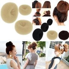 Womens Girl's HOT Hair Bun Ring Donut Shaper Hair Styler Maker 3 Sizes S M L
