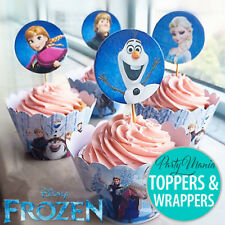 DISNEY FROZEN BIRTHDAY PARTY SUPPLIES CANDLES OR CUPCAKE WRAPPERS AND TOPPERS