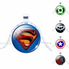 1x HOT! Film Characters Pattern Handmade Glass Dome Picture Pendant Necklace
