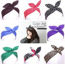 Womens Round Dot Sweet Lovely bowknot Rabbit ears Wearing a Headbands headpieces
