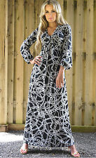 Maternity Suitable Maxi Dress Long Sleeve Empire Style by MontyQ UK