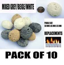 Gas fire Pebbles Beige/Grey/White Replacement/ outdoor fire pit/ indoor fires
