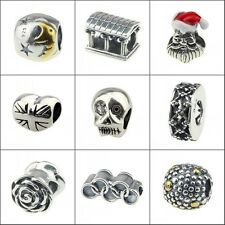 .925 Sterling Silver European Style Charms Fashion Jewelry fit 3mm Bracelets