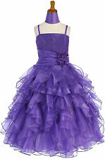 Dressesforgirls Purple Flower Girl Pageant Easter Formal Wedding Dress J3299
