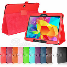 "Folio PU Leather Case Cover Stand For Samsung Galaxy Tab 4 10.1"" Inch T530 T535"