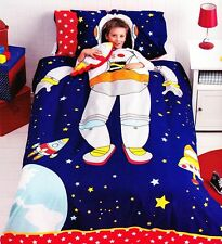 Spaceman Bedding Quilt Cover Set Boys Kids Rocket Space Ship Astronaut Stars New