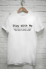 Sam Smith Stay With Me T-SHIRT Male Female Tshirt In the Lonely Hour Music R445