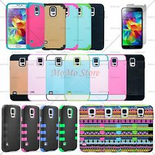 Heavy Duty Hybrid Rugged Rubber Hard Case Cover Shockproof for Samsung Galaxy S5