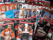 Wigan Rugby League Home Programmes 2002-2011 Choose individual programmes