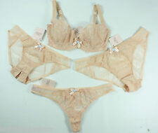 AGENT PROVOCATEUR Sexy Darla Champagne Lace Bra Brief Thong or Ouvert