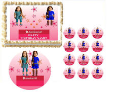 American Girl Dolls YOU Pick Which Dolls You Want Stars Edible Cake Topper Image