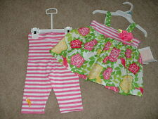 NEW Girls Bonnie Jean Baby Striped Boutique Outfit Set Size 12 18 24 Months NWT