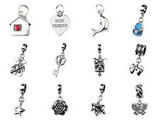 Beads Hunter 925 Sterling Silver Charm Pendant Flower&Love fit European Bracelet