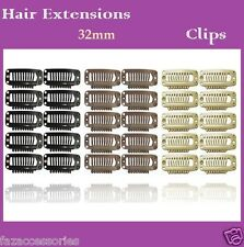 Hair Extension Snap Clips Weft Wig Grips Medium Remy Clip In 23mm 28mm 32mm
