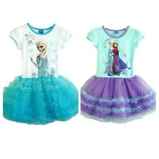 Costume Frozen  Tutu Fancy Short Dress Party Princess ELSA & ANNA  Disney Girl
