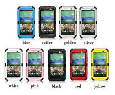 Shockproof Gorilla Glass Metal Case Cover For HTC ONE M8 Waterproof Snowproof