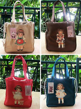 Paper Doll Mate Women Fabric Book Tote Shopping Bag Wallet Pouch Purse NIP