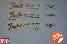 2 X Decal Decalcomania Replica Fender Jazz Bass Special U.S.A