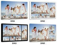 Your Photo Collage Canvas Print - Personalised on Box/Wrapped Many Size D900
