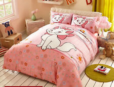 2014 New Disney Marie Cat Bedding Set 4pc PINK Cotton Queen King Size RARE