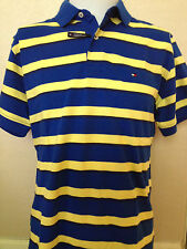 Tommy Hilfiger Mens Custom Fit Striped Polo Shirt Short Sleeve,Small,XL,XXL