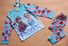 Frozen  Pyjamas Anna & Elsa Blue red  2 -7 years UK STOCK long sleeve girls